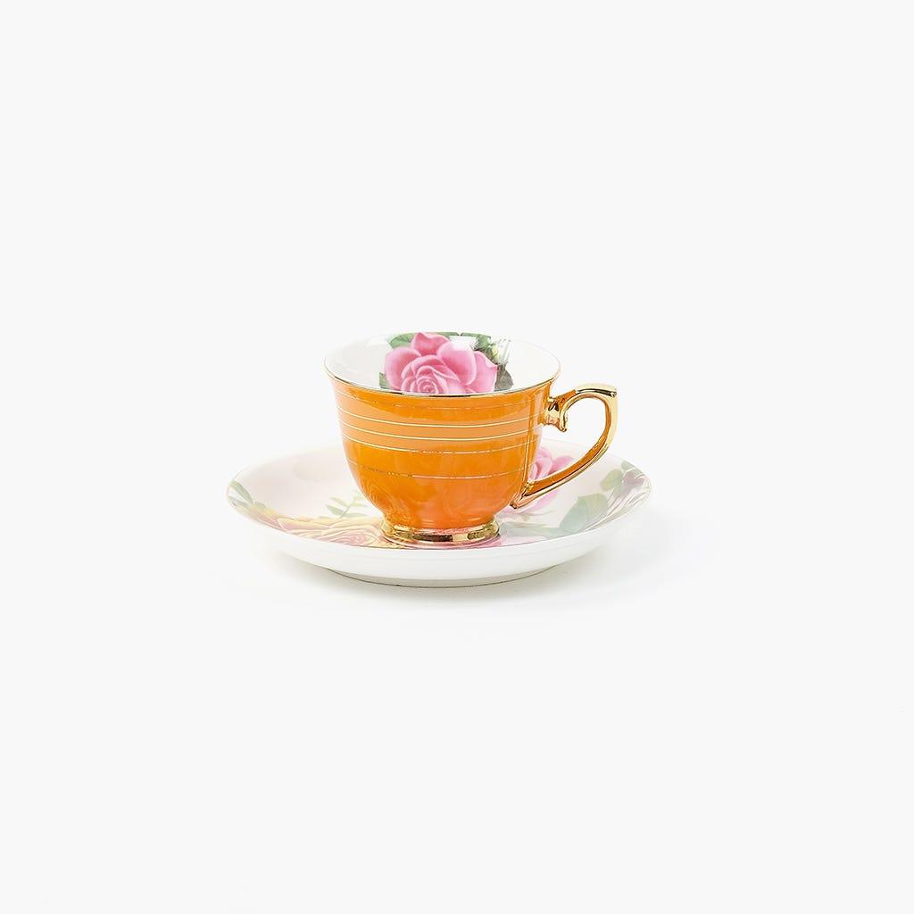Chávena de Café Flores Laranja