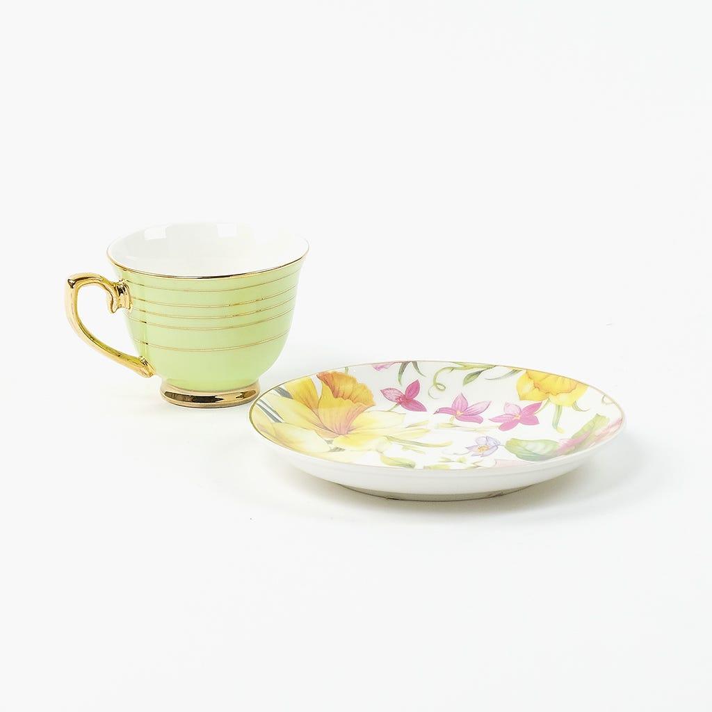 Chávena de Café Flores Verde