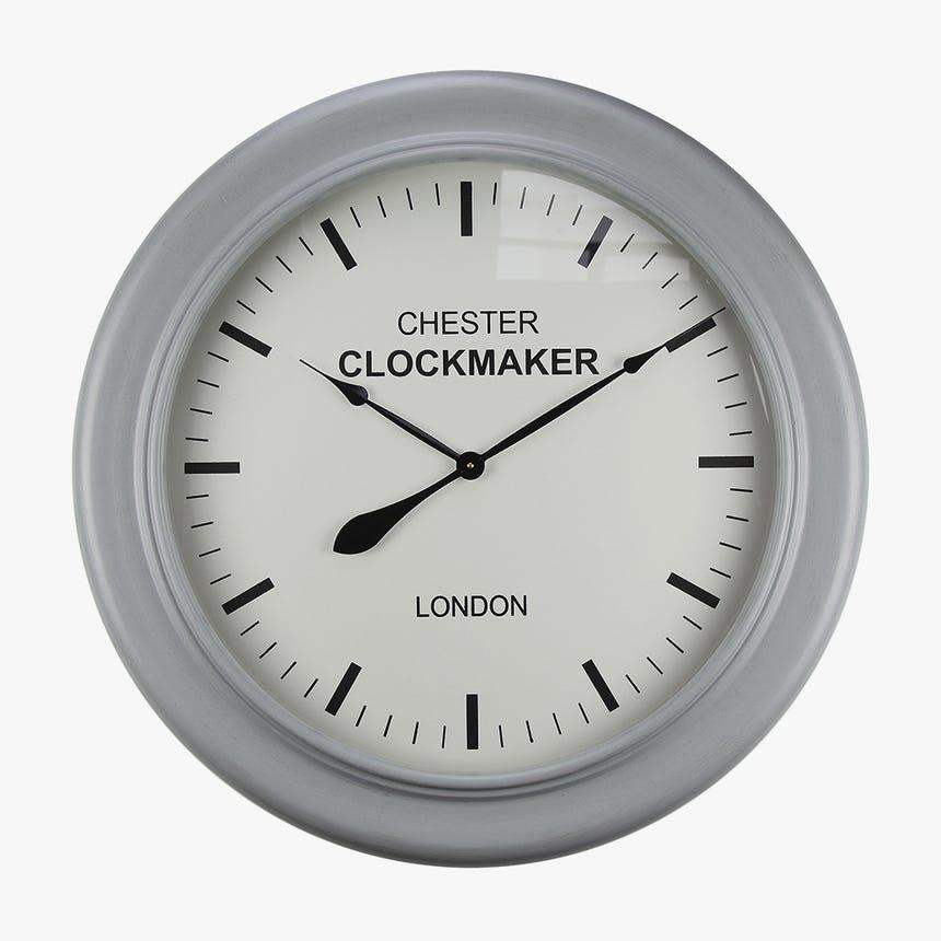 Horloge murale London Gris 78x78 cm