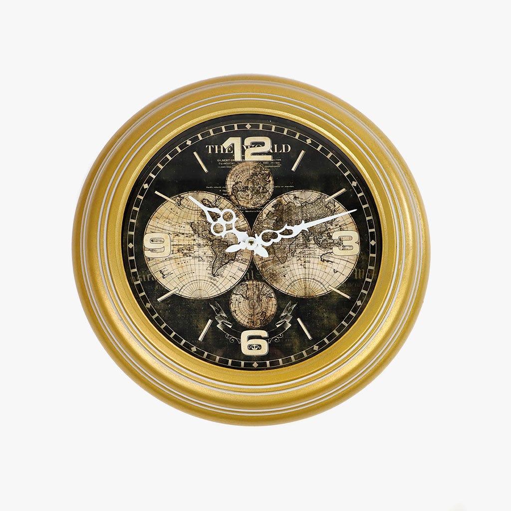 Relógio Mundo Amarelo 43 cm