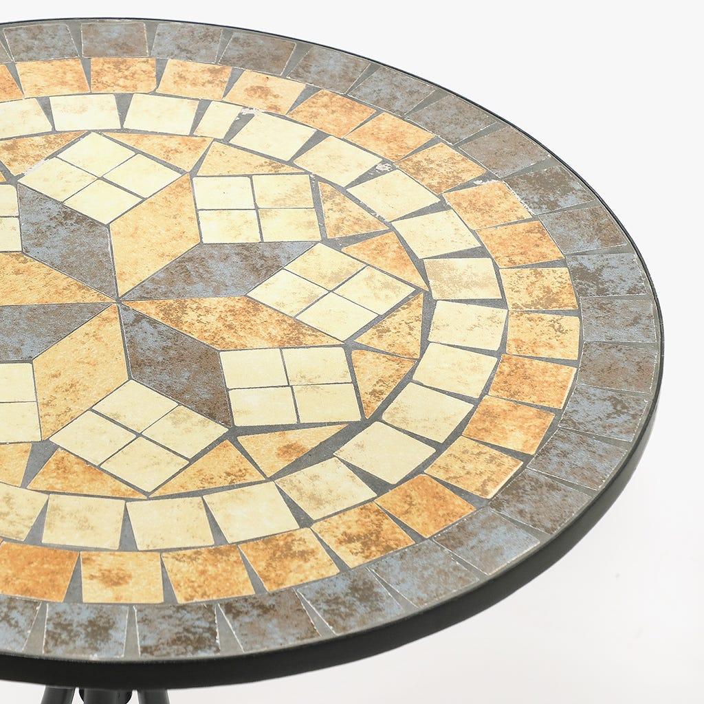 Mesa Mosaico Losango Bege D:60x75 cm