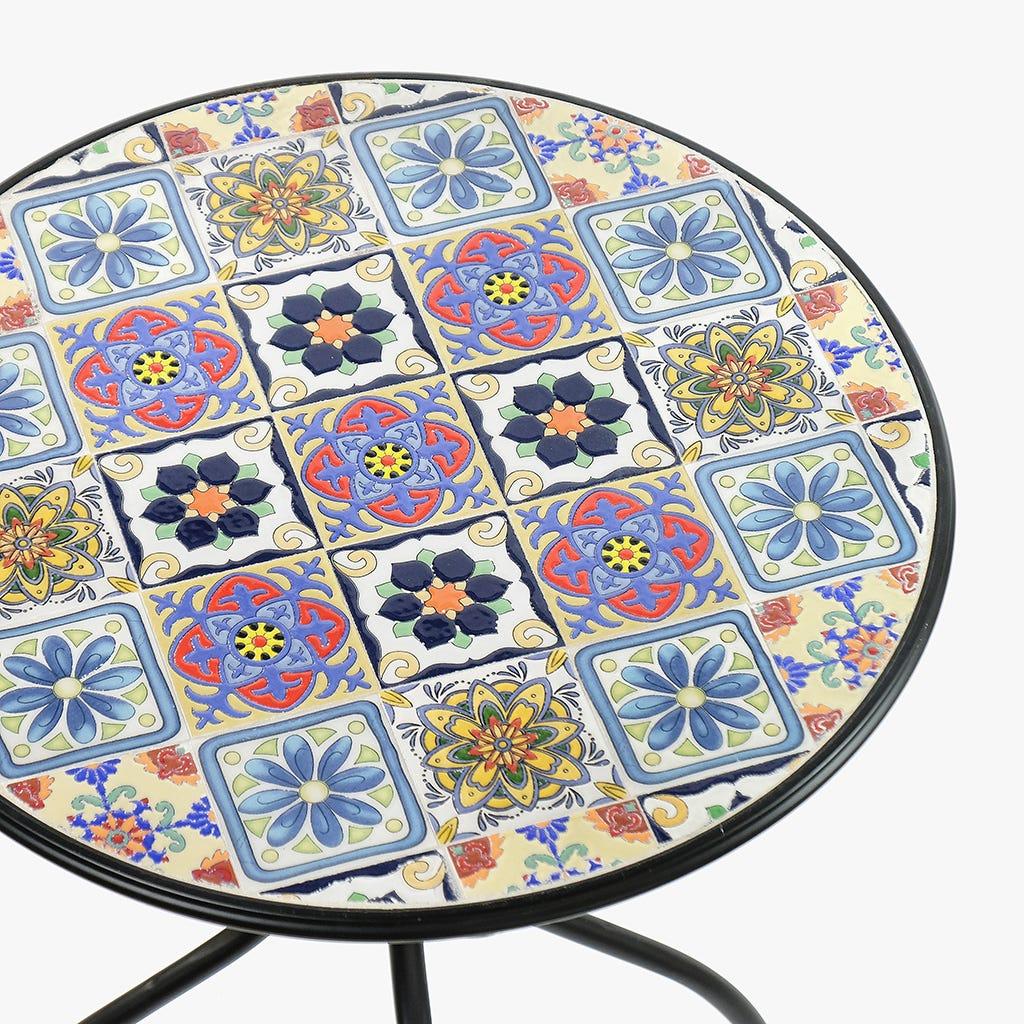Mesa Mosaico Azul D: 60cm