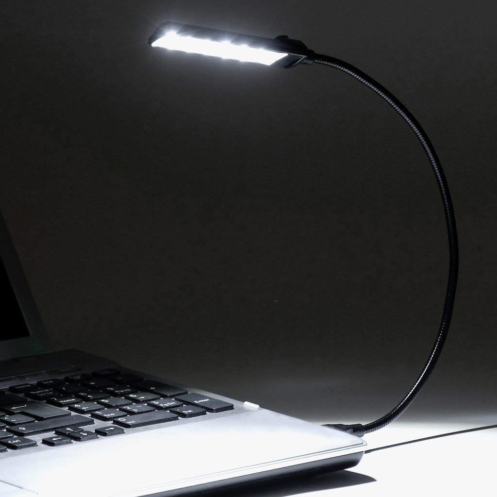 Luz de Leitura 6 LED com USB Preto