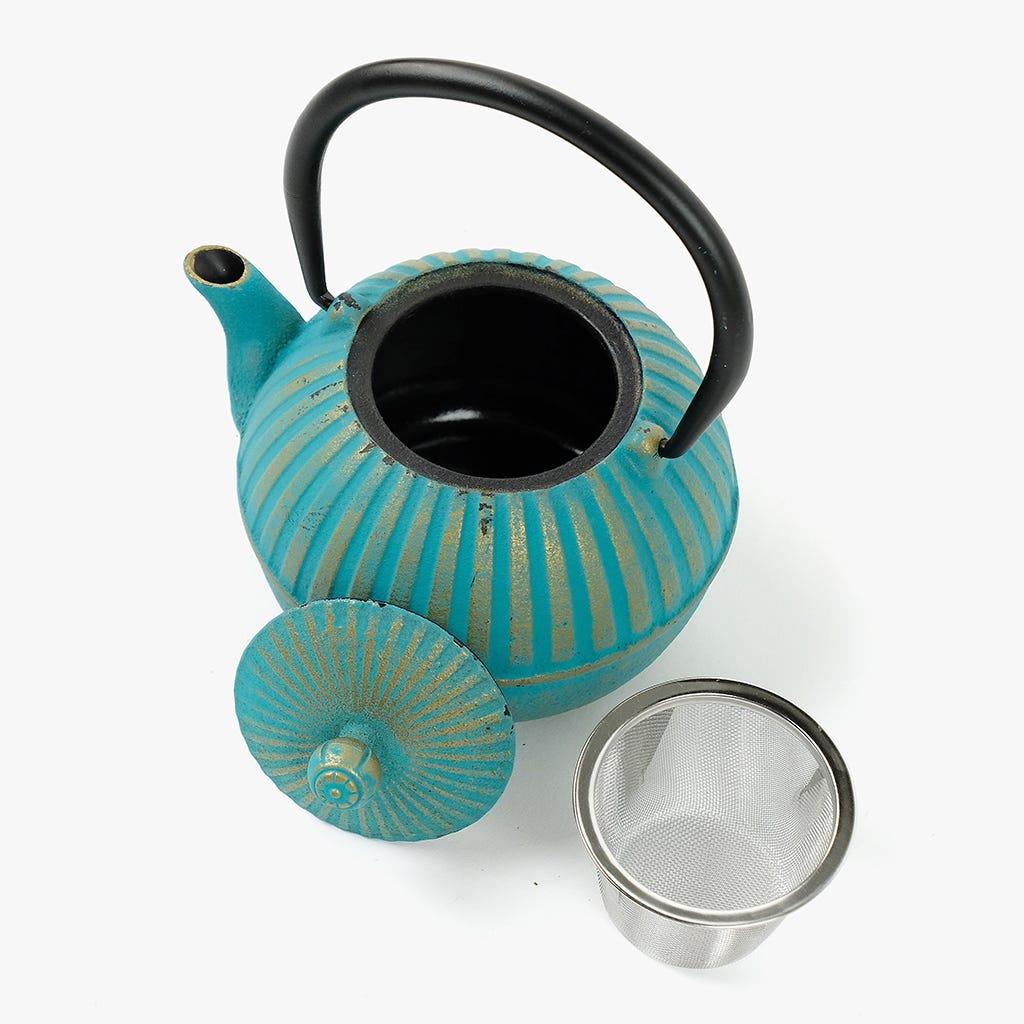 Théière Asia Turquoise et Or 0,5 L