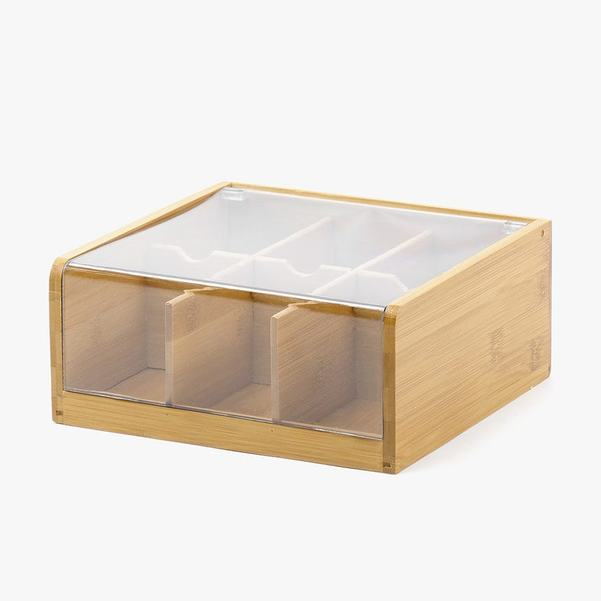 Boîte à thé Bambou/Acrylique
