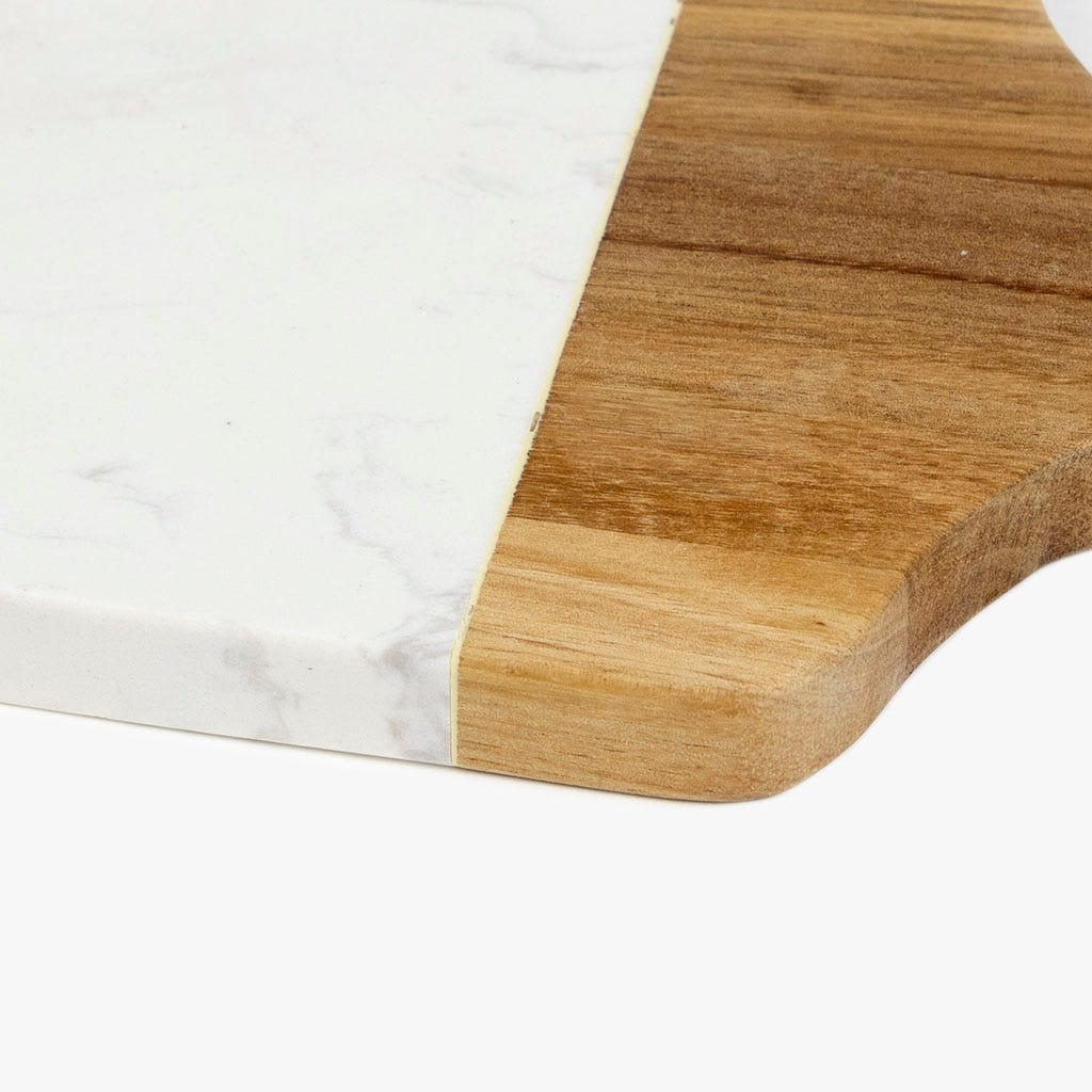 Planche Nepal Acacia et Pierre 32x14 cm
