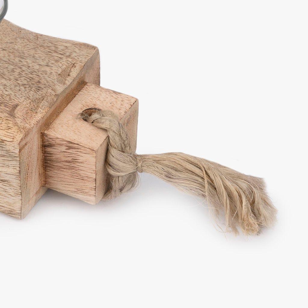 Suporte de vela madeira 53 cm 5 Tealights