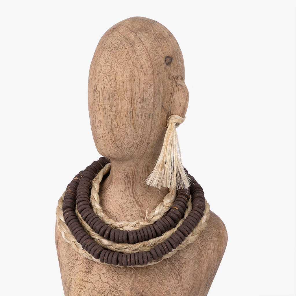 Busto madeira 17x12x44 cm