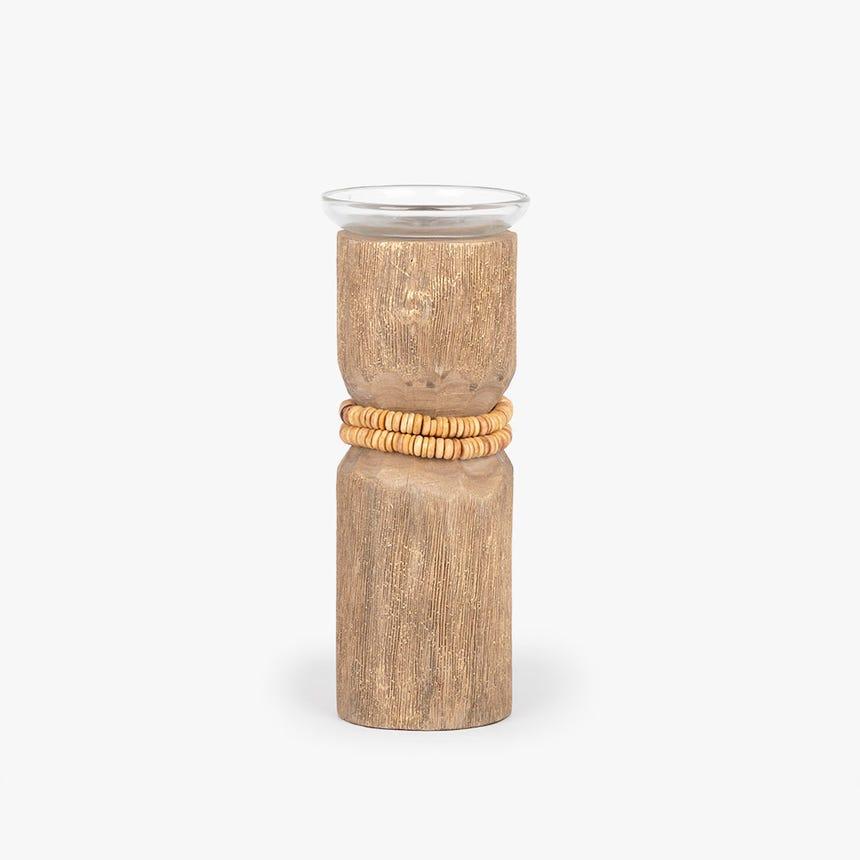 Castiçal madeira 26 cm