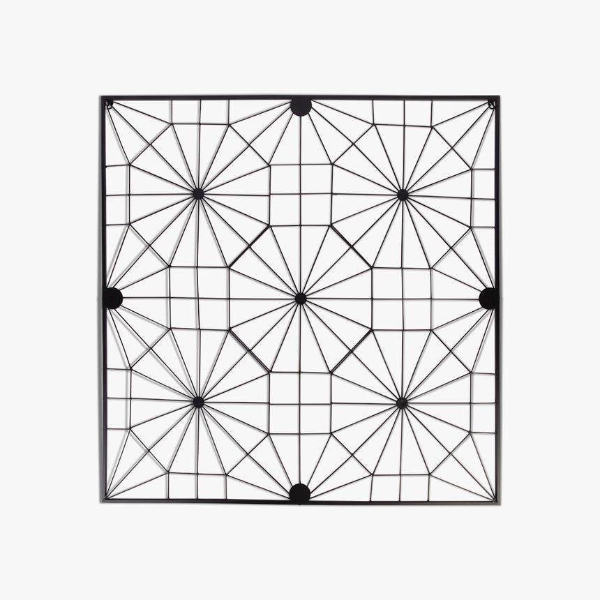 Pièce décorative Marbella Metal Noir 100x100 cm