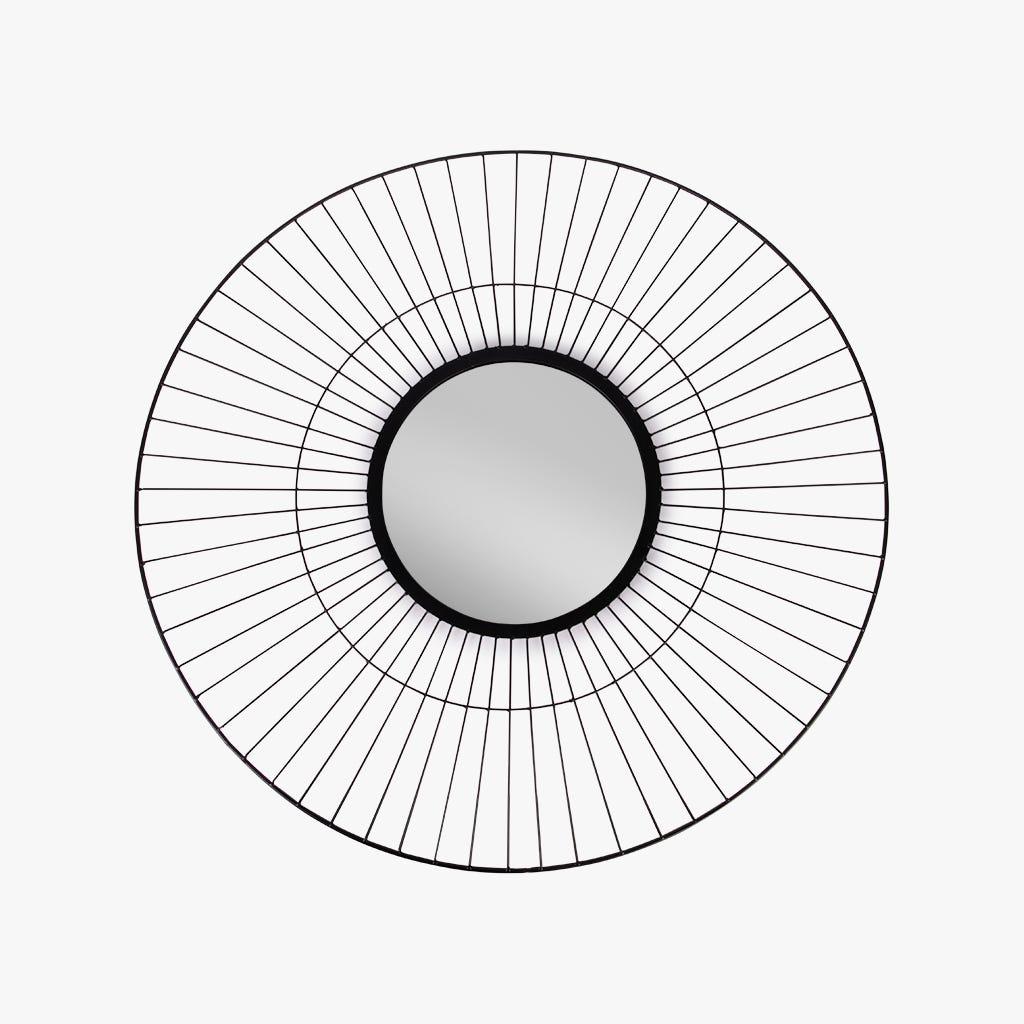 Espejo Marbella Metal Negro 100 cm