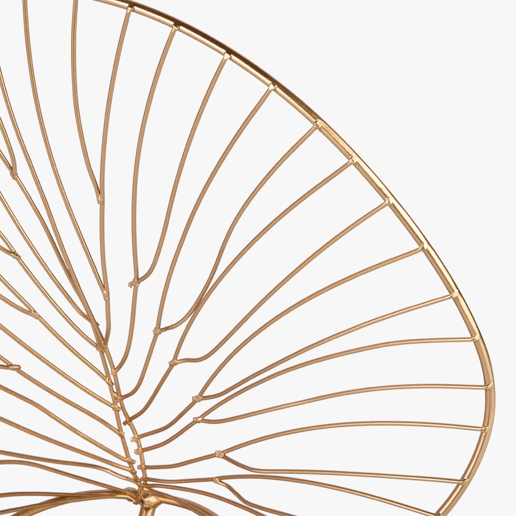 Folha Marbella metal dourado 33x31 cm