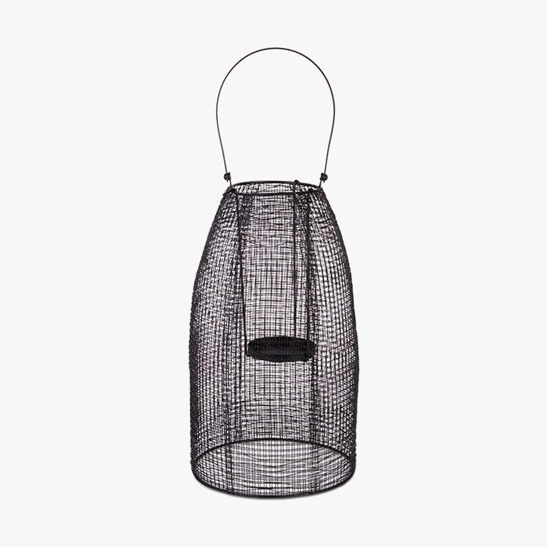 Lanterne Marbella Metal Noir 23x57 cm