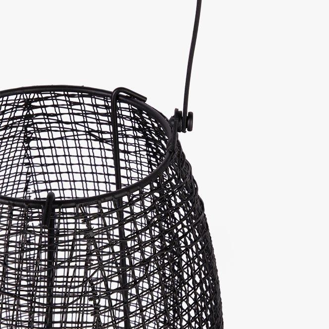 Lanterne Marbella Metal Noir 21x46 cm