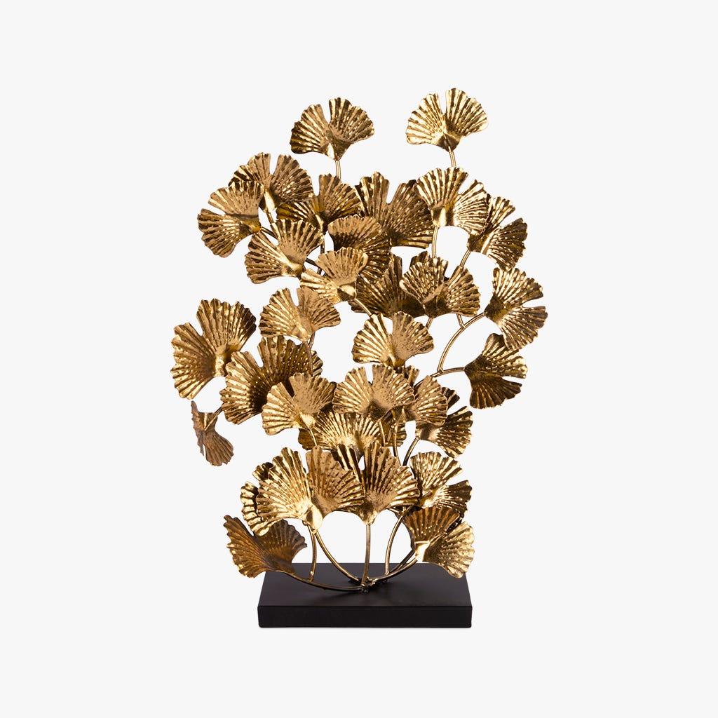 Folhas Marbella metal dourado 43x59 cm