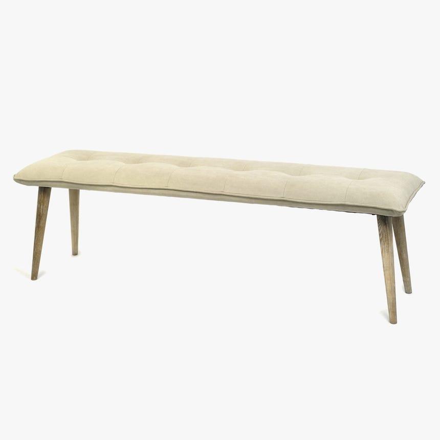 Banqueta Cinza 160x46x49 cm