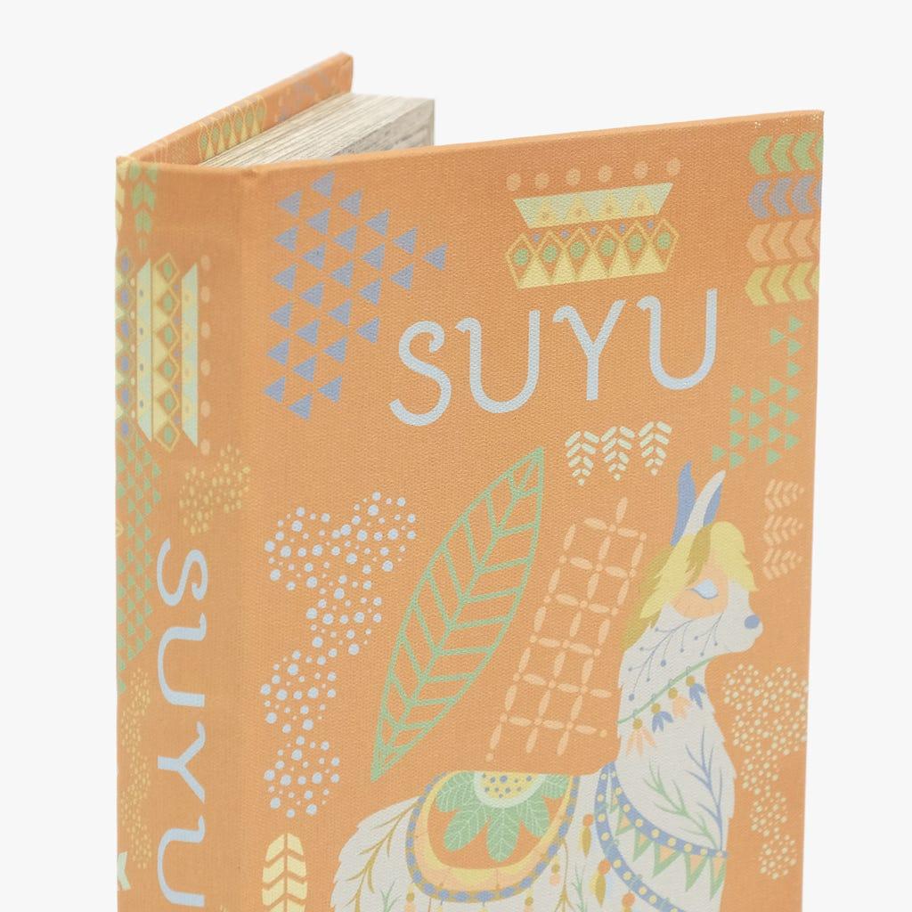 Caixa Livro Suyu Laranja 21x14 cm