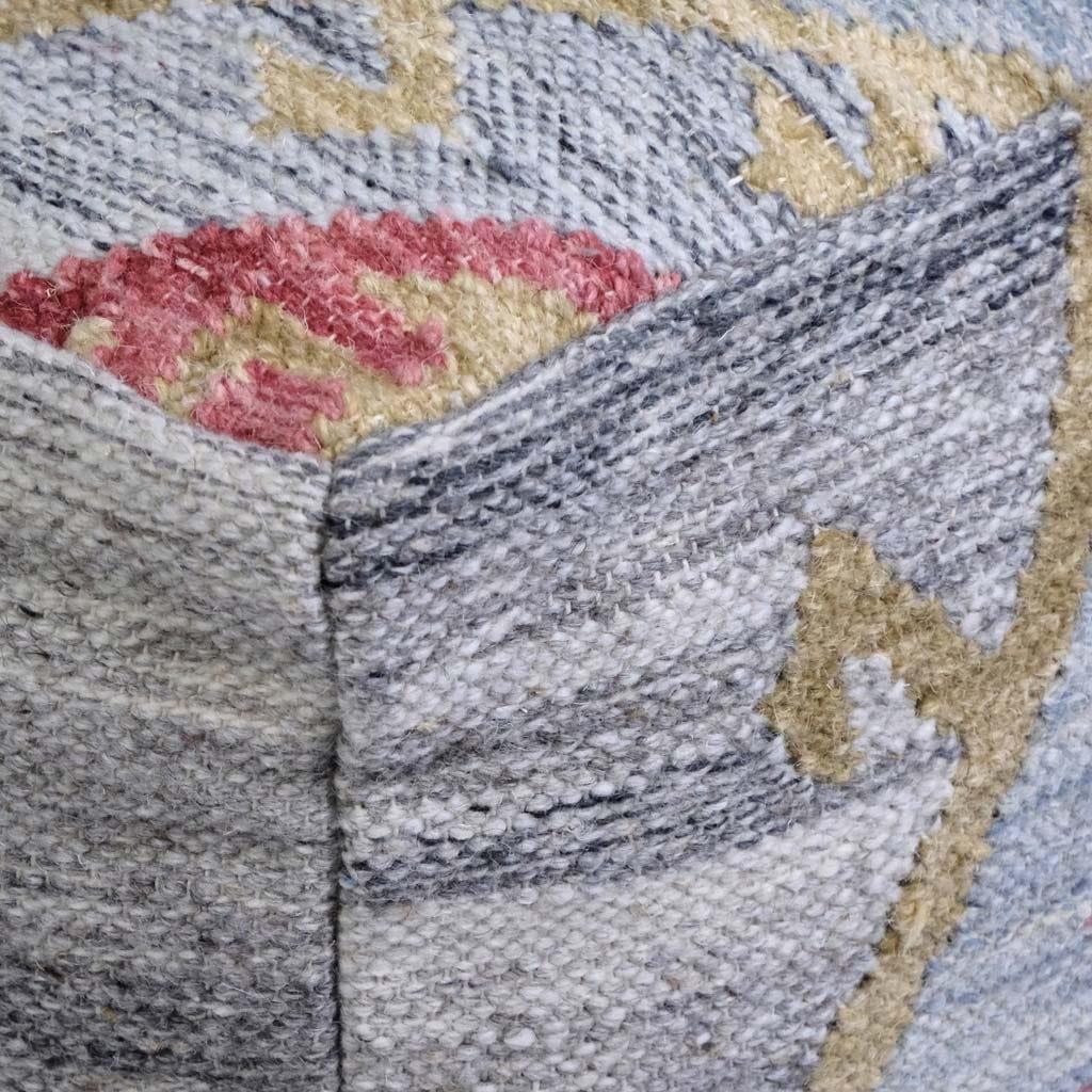 Puf Kilim Azul 50x50x35 cm