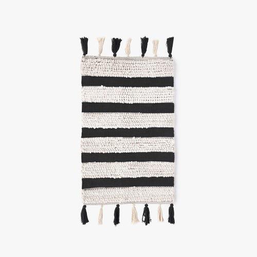 Tapete de banho preto e branco 50x80 cm