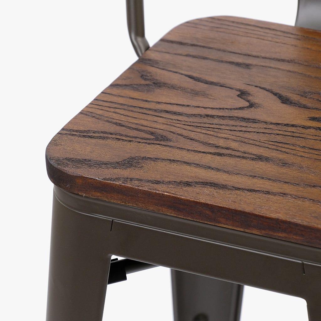 Cadeira Alta Factory Wood 105 cm