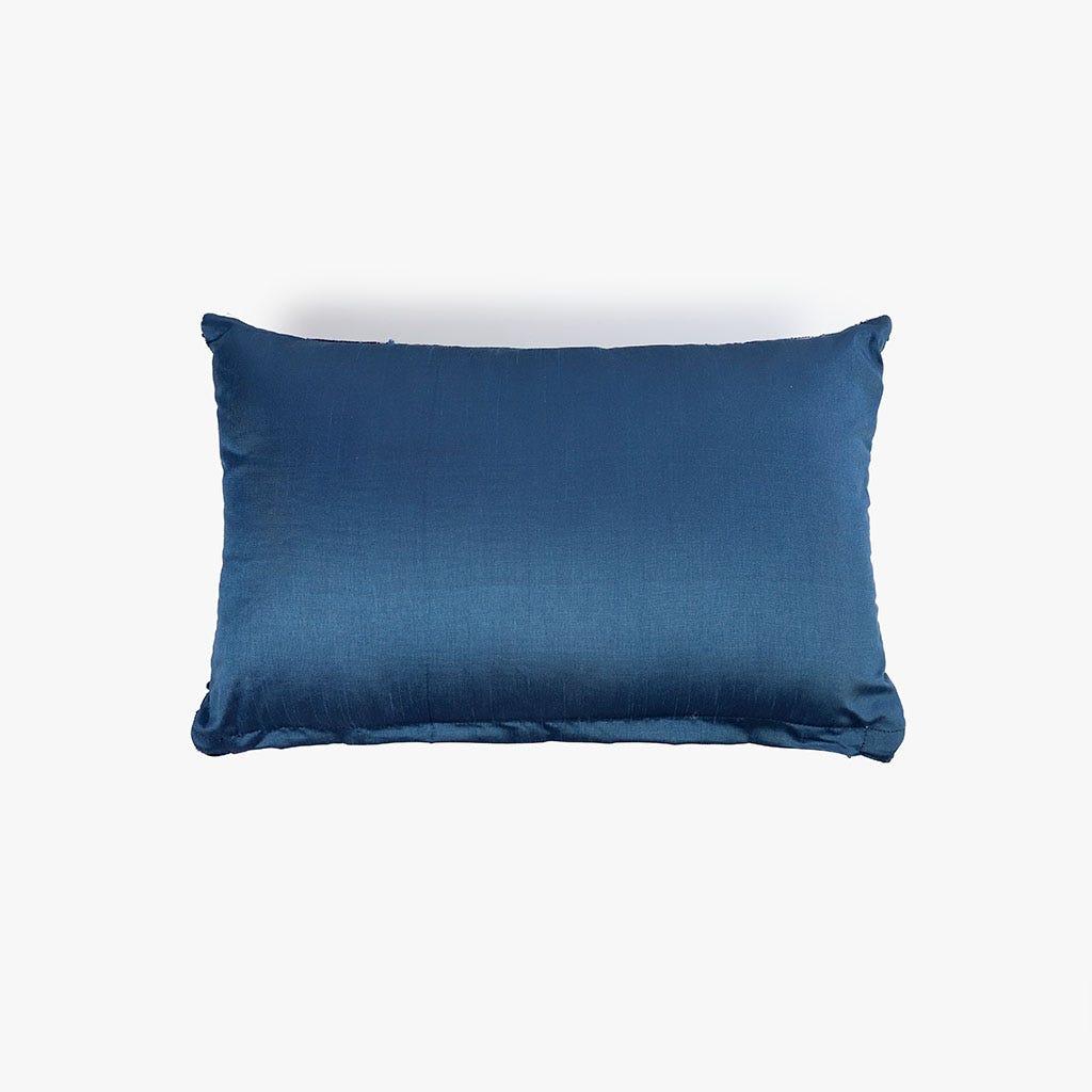 Almofada Chenila Azul 30x50 cm