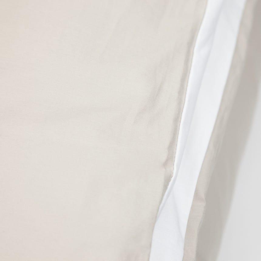 Saco de Edredão Percal Reversível Branco e Seixo 140x200 cm