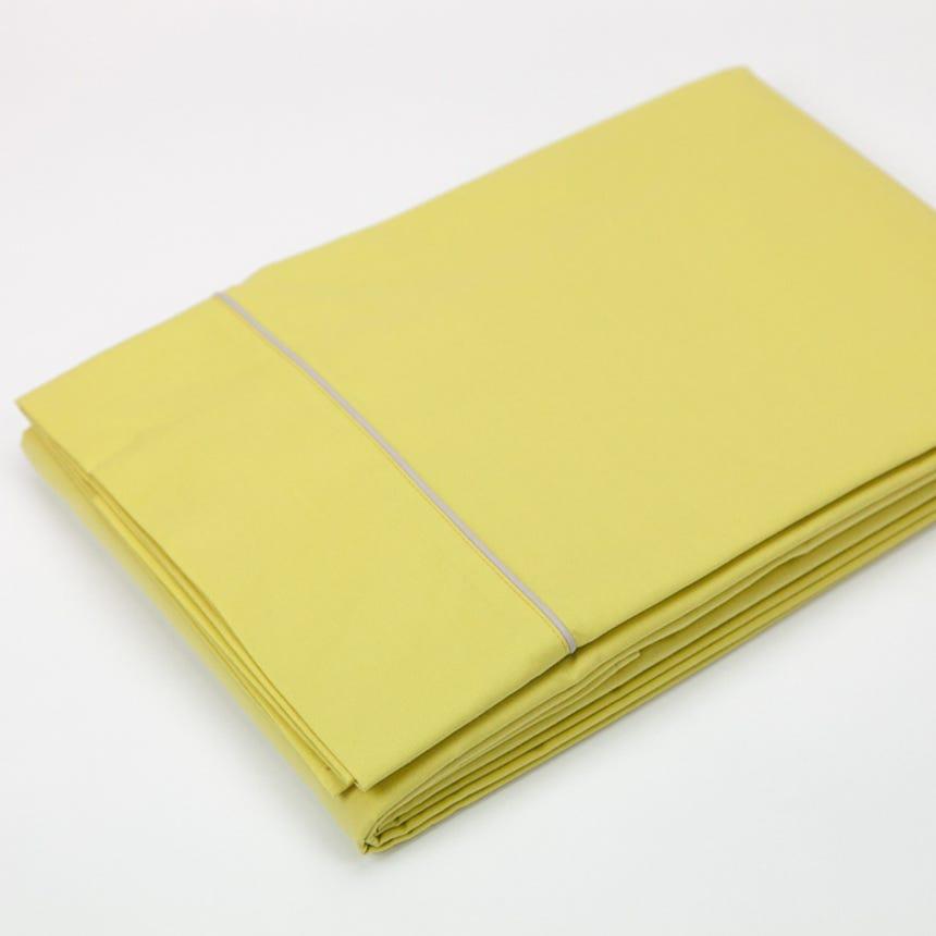 Lençol de Cima Percal Amarelo 160x280 cm