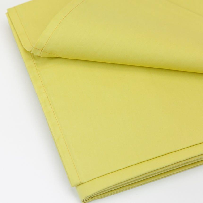 Lençol de Baixo Percal Amarelo 160x280 cm