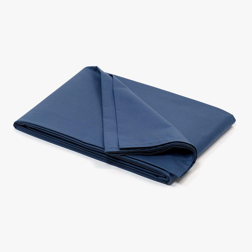 Lençol de Baixo Percal Azul Marinho 160x280 cm