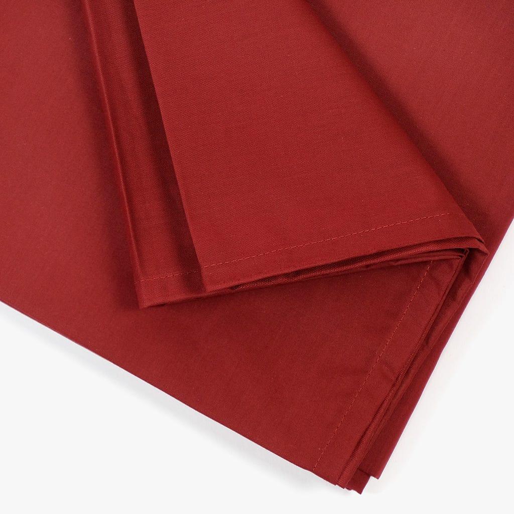 Lençol de Baixo Percal Vermelho 160x280 cm