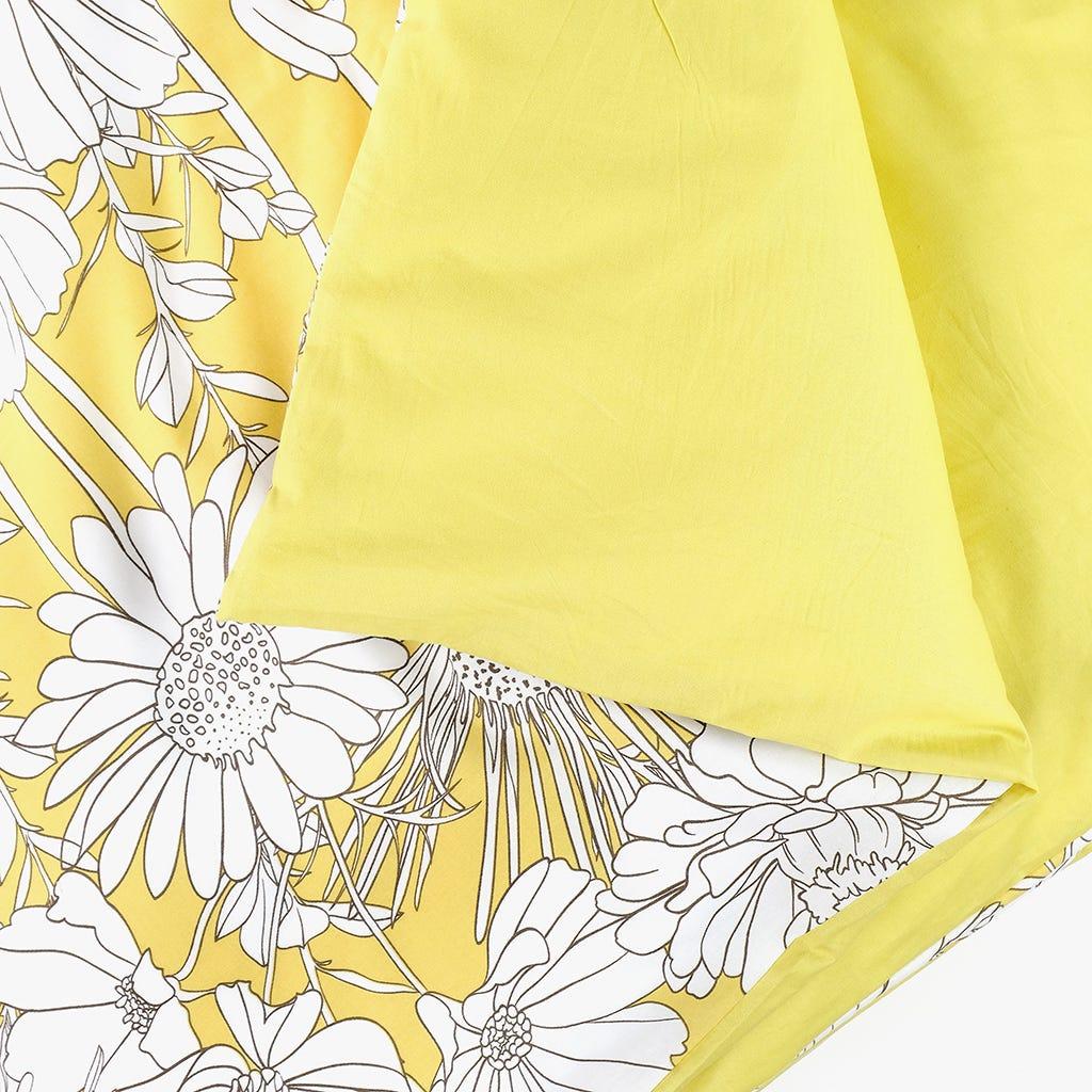 Saco de Edredão Flores Amarelo 140x200 cm