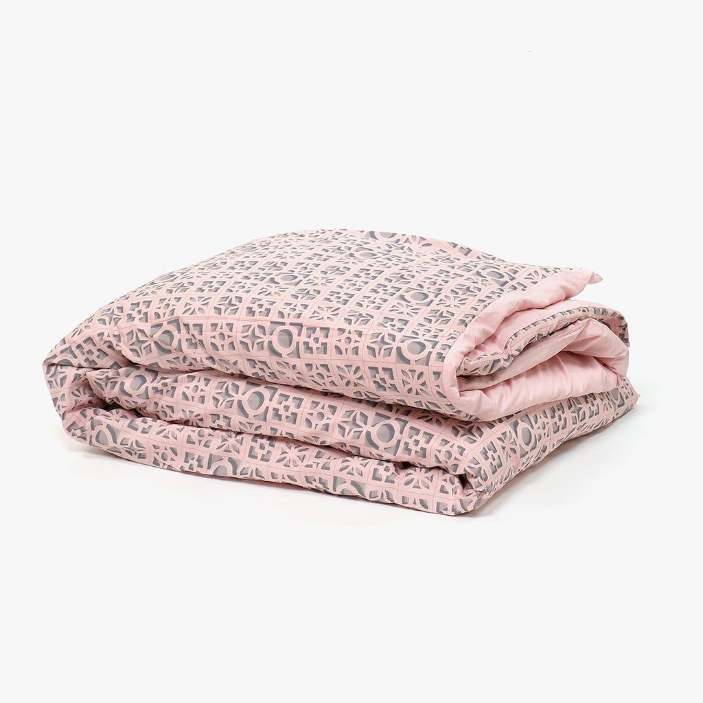 Saco de Edredão Breeze Blocks Rosa 240x220 cm