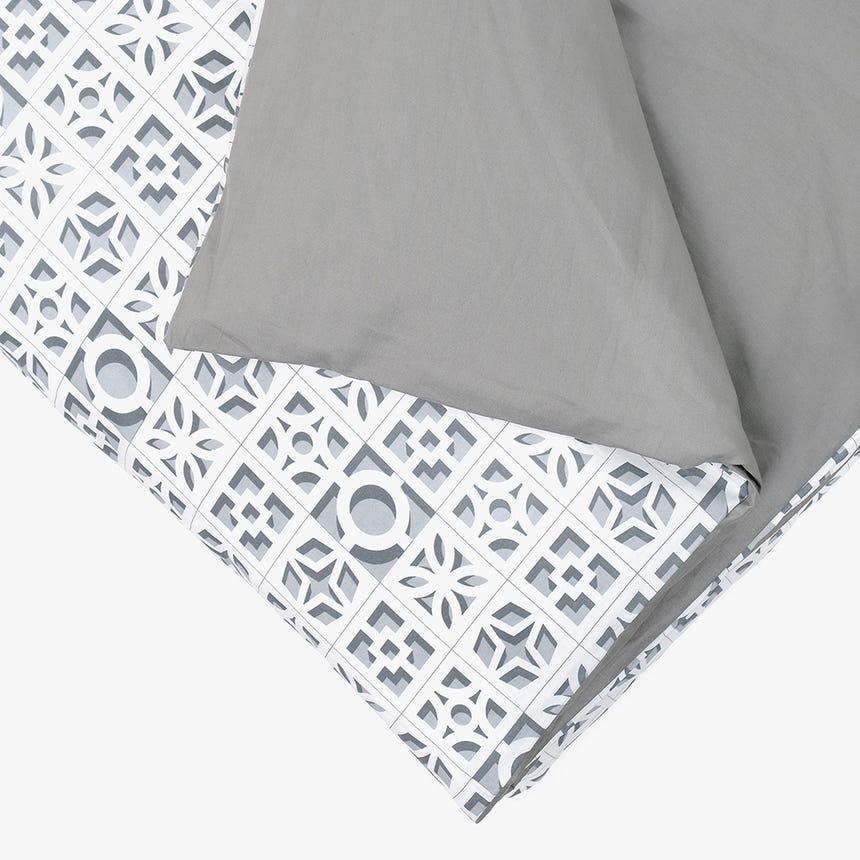 Saco de Edredão Breeze Blocks Cinza 140x200 cm