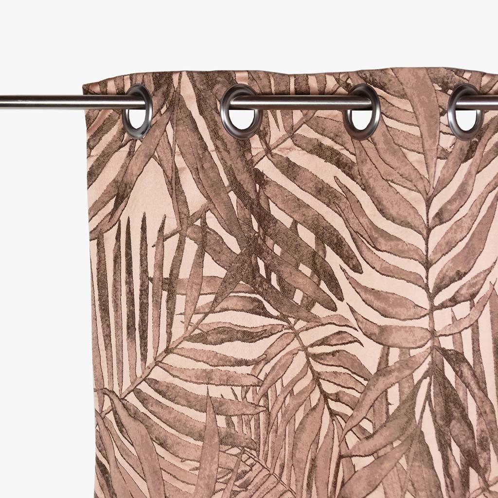 Cortinado Estoril Folha Rosa 140x270 cm