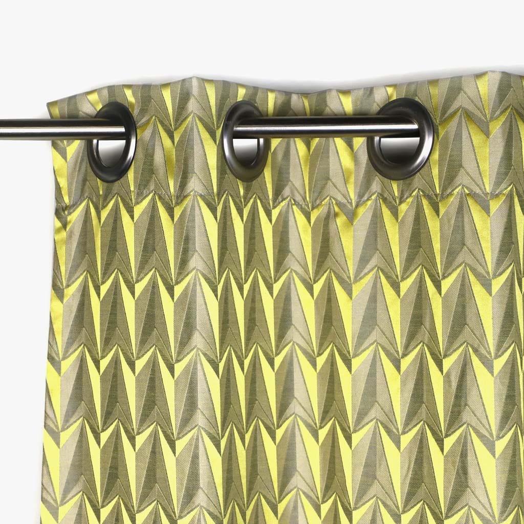 Cortinado Laki Geométrico Amarelo 130x270 cm