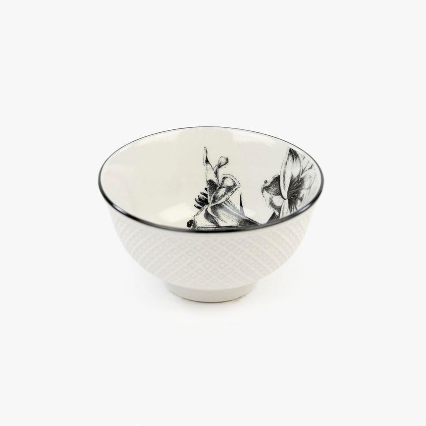 Taça Flor Branco e Preto 7.6 cm