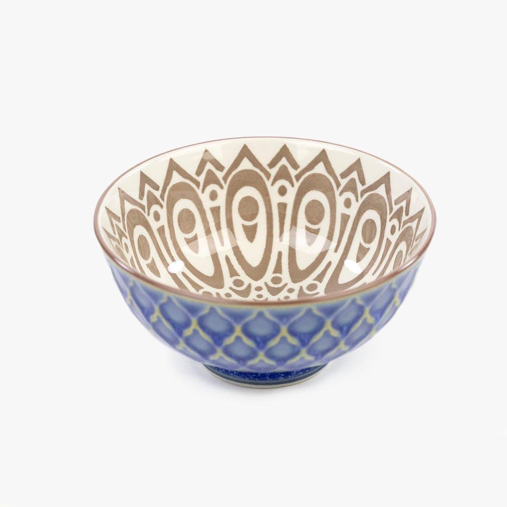 Taça Asia Bege e Azul 12 cm