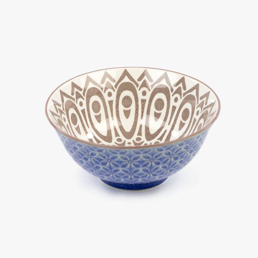 Taça Asia Bege e Azul 15 cm