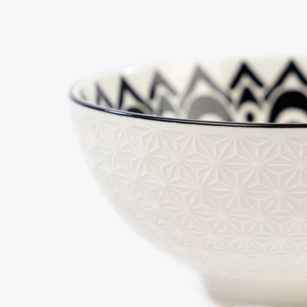 Taça Asia Branco e Preto 15 cm