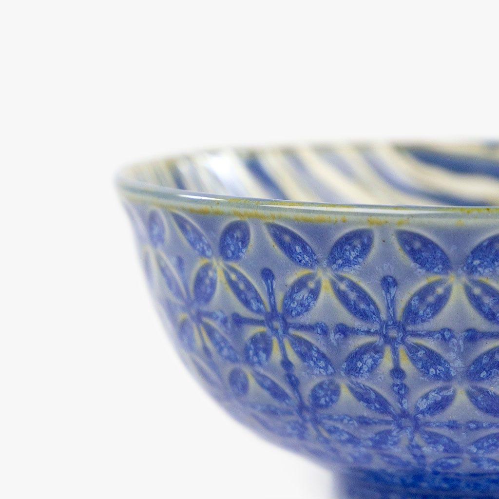 Taça Riscas Azul 12 cm