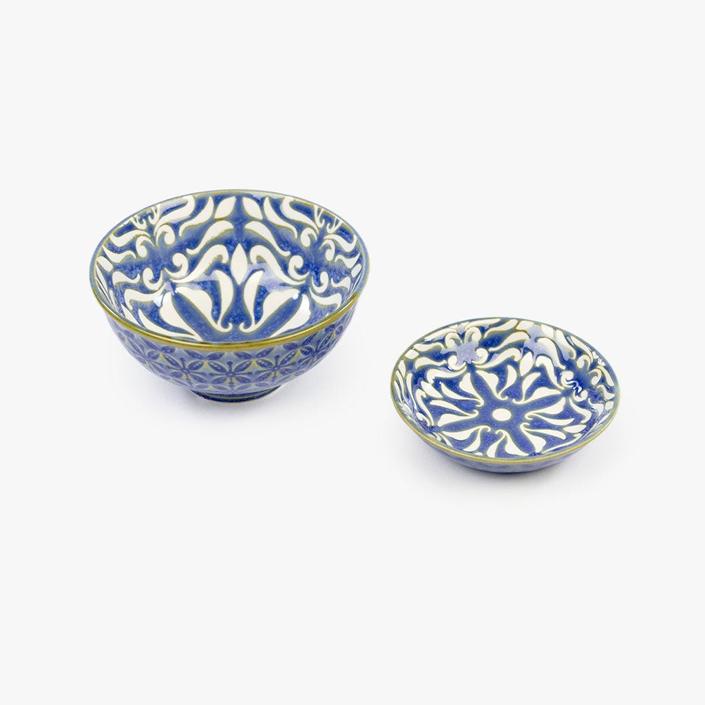 Taça Arabesco Azul 12 cm