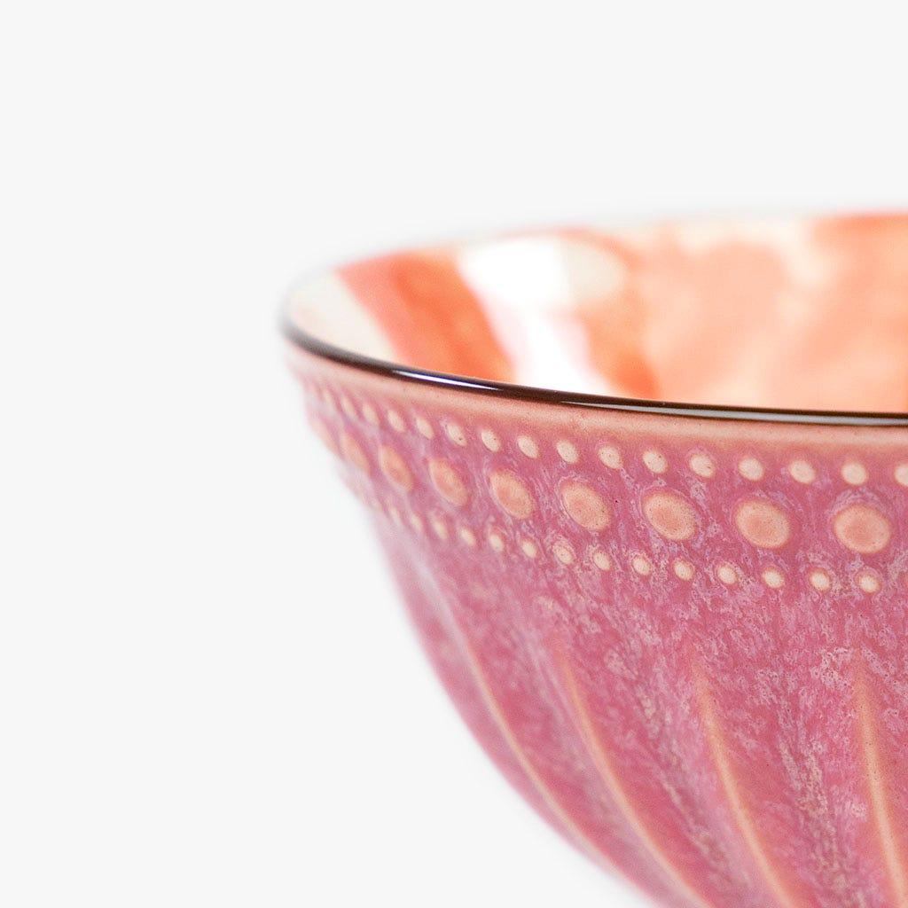 Taça Marmoreada Laranja 15 cm