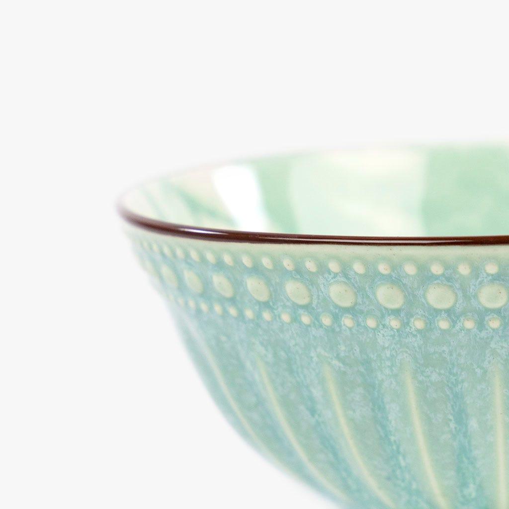 Taça Marmoreada Aqua 15 cm