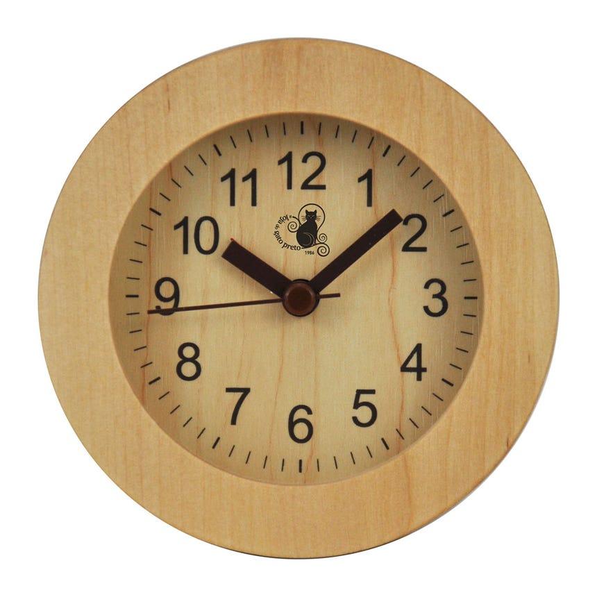 Relógio Madeira Redondo 10x10 cm