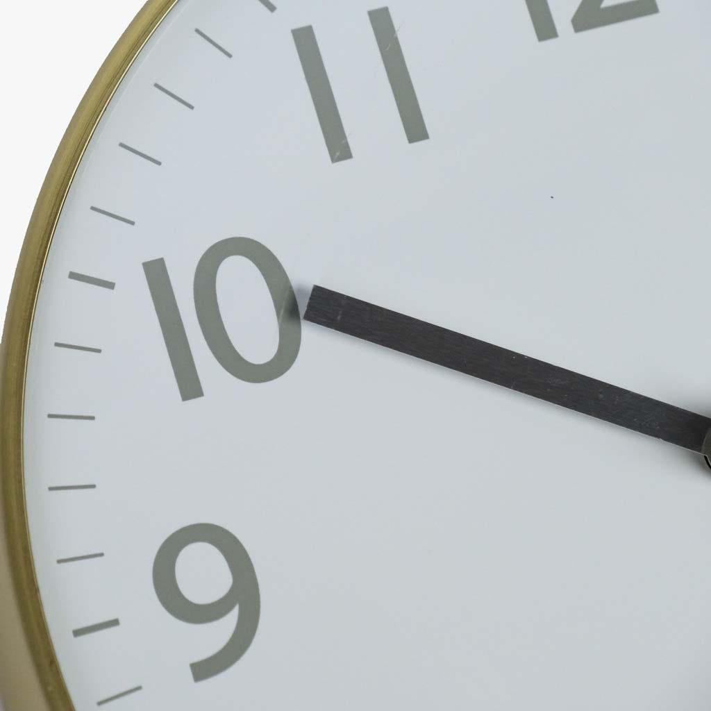 Relógio de Parede dourado 20 cm