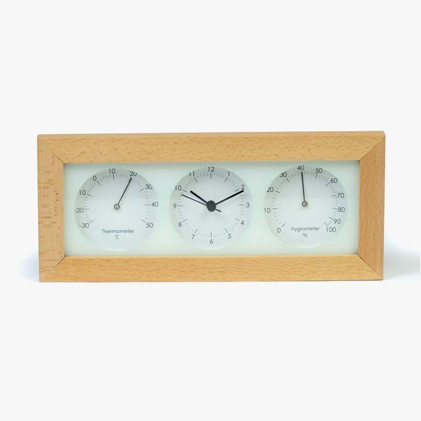 Relógio madeira retangular 29x12 cm