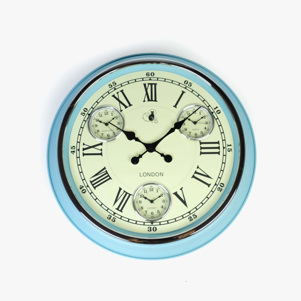 Horloge murale Vert51X51 cm