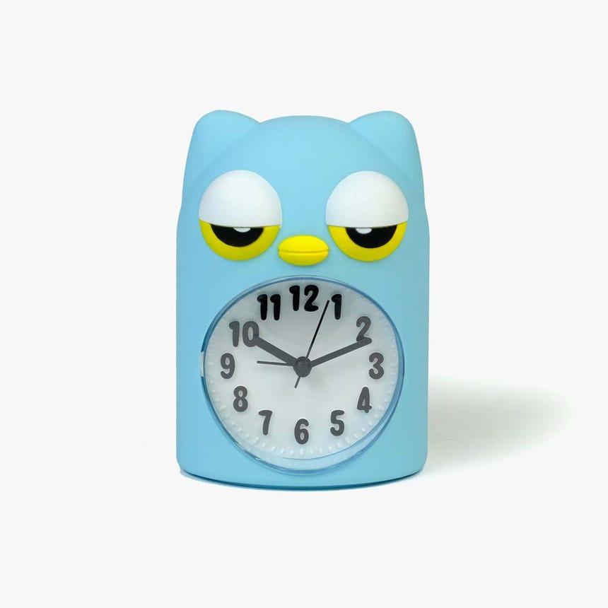 Horloge Hibou Vert11x9x15 cm