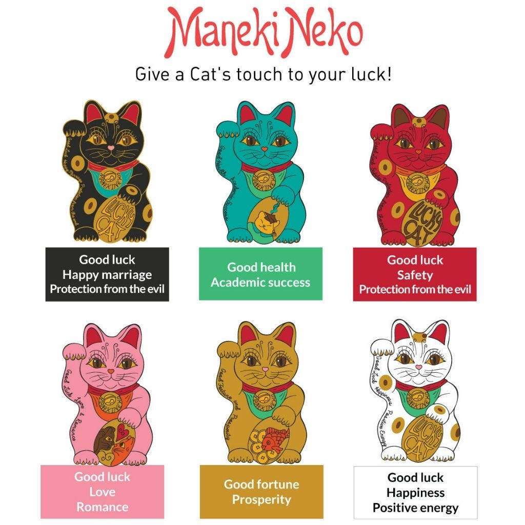 Maneki Neko Dourado