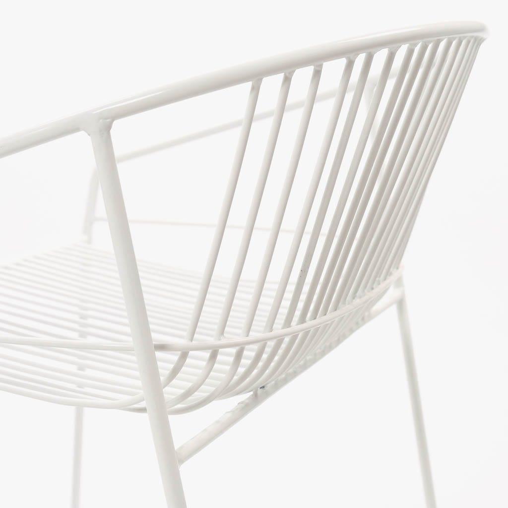 CadeiraSardenha Branco54x54x68 cm